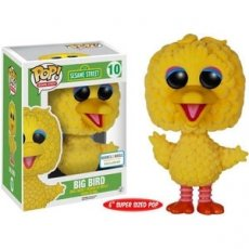 "POP! Sesame street 10 BIG BIRD FLOCKED (groot 6"")"